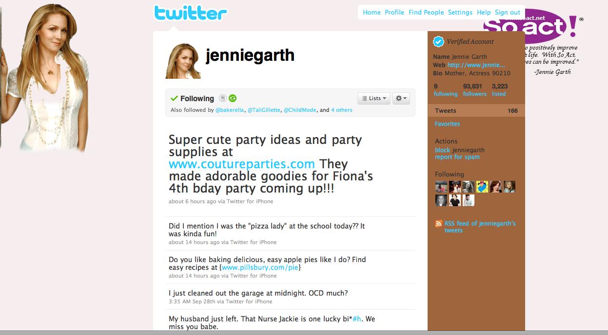 jennie garth birthday party